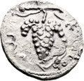 Ancients:Judaea, Ancients: Bar Kokhba Revolt (132 - 135 AD). AR irregular zuz (20mm,3.35 gm, 8h). ...