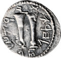 Ancients:Judaea, Ancients: Bar Kokhba Revolt (132 - 135 AD). AR zuz (19mm, 3.24 gm,1h). ...