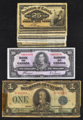 Canadian Currency: , Canadian Shinplasters, Large, and Small - 1900 - 1937.. ... (Total:9 notes)