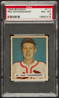 Baseball Cards:Singles (1940-1949), 1949 Bowman Red Schoendienst #111 PSA NM-MT 8 - Only Eight Higher!...
