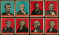 "Non-Sport Cards:Sets, 1932 R114 U.S. Caramel ""Presidents"" Partial Set (16) Plus Two ColorVariations...."