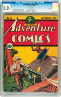 Golden Age (1938-1955):Superhero, Adventure Comics #45 Billy Wright pedigree (DC, 1939) CGC GD 2.0 Off-white to white pages....