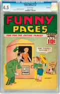 Golden Age (1938-1955):Miscellaneous, Funny Pages V2#7 Billy Wright pedigree (Centaur, 1938) CGC VG+ 4.5 Off-white pages....