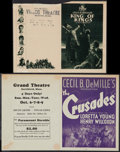 """Movie Posters:Historical Drama, The King of Kings & Other Lot (Pathé, 1927). Heralds (2) (4Pages, 5.5"""" X 8.5"""" & 7"""" X 9""""). Historical Drama.. ... (Total: 2Items)"""