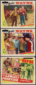 "Movie Posters:Western, The Lawless Frontier (Western Adventure Pictures, R-late 1940s).Title Card and Lobby Cards (3) (11"" X 14""). Western.. ... (Total: 3Items)"