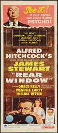 """Movie Posters:Hitchcock, Rear Window (Paramount, R-1962). Insert (14"""" X 36""""). Hitchcock.. ..."""