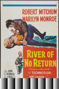 "Movie Posters:Adventure, River of No Return (20th Century Fox, R-1961). One Sheet (27"" X41""). Adventure.. ..."