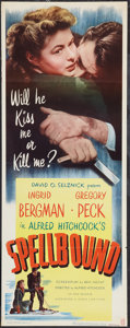 """Movie Posters:Hitchcock, Spellbound (Eagle Lion, R-1949). Insert (14"""" X 36""""). Hitchcock.. ..."""