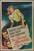 "Movie Posters:Thriller, The Spiral Staircase (RKO, 1945). One Sheet (27"" X 41""). Thriller.. ..."