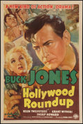 "Movie Posters:Western, Hollywood Roundup (Columbia, 1937). One Sheet (27"" X 41""). Western.. ..."