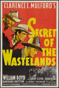 "Movie Posters:Western, Secret of the Wastelands (Paramount, 1941). One Sheet (27"" X 40.5""). Western.. ..."