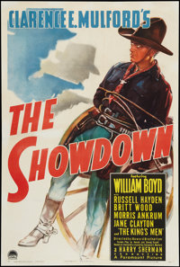 "The Showdown (Paramount, 1940). One Sheet (27.5"" X 40.75""). Western"