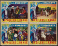 """Movie Posters:Western, Spoilers of the Range (Columbia, 1939). Lobby Cards (4) (11"""" X 14""""). Western.. ... (Total: 4 Items)"""