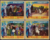 """Spoilers of the Range (Columbia, 1939). Lobby Cards (4) (11"""" X 14""""). Western. ... (Total: 4 Items)"""