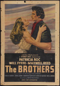 "Movie Posters:Drama, The Brothers (Eagle Lion, 1947). British One Sheet (27"" X 40"").Drama.. ..."