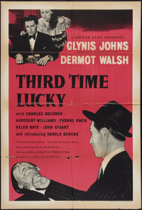 "Third Time Lucky (Eagle Lion, 1949). British One Sheet (27"" X 40""). Drama"