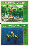 "Movie Posters:Horror, Creature from the Black Lagoon (Universal International, 1954).Lobby Cards (2) (11"" X 14""). Horror.. ... (Total: 2 Items)"
