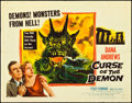 """Movie Posters:Horror, Curse of the Demon (Columbia, 1957). Half Sheet (22"""" X 28"""") Style A. Horror.. ..."""