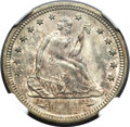 Seated Quarters, 1874-S 25C Arrows MS66 NGC....