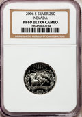 Proof Statehood Quarters, 2006-S 25C Nevada Silver PR69 Ultra Cameo NGC. PCGS Population(3998/404). Numismedia Wsl. Price for pr...