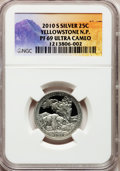 Proof National Parks Quarters, 2010-S 25C Yellowstone National Park Silver PR69 Ultra CameoNGC....