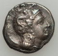 Ancients:Greek, Ancients: LUCANIA. Thurium. Ca. 350-310 BC. AR nomos (7.77 gm). ...