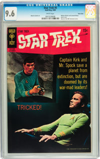 Star Trek #5 Twin Cities pedigree (Gold Key, 1969) CGC NM+ 9.6 White pages
