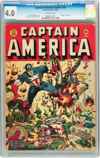 Captain America Comics #33 (Timely, 1943) CGC VG 4.0 Off-white pages
