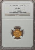 Commemorative Gold, 1905 G$1 Lewis and Clark AU58 NGC....
