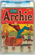 Golden Age (1938-1955):Humor, Archie Comics #1 (Archie, 1942) CGC FR 1.0 Off-white to white pages....