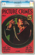 Platinum Age (1897-1937):Miscellaneous, Picture Crimes #1 (David McKay Publications, 1937) CGC GD+ 2.5 Cream to off-white pages....