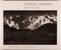 Books:Photography, Ansel Adams. Images 1923-1974. Foreword by Wallace Stegner. Boston: New York Graphic Society, [1974]. First edition....