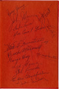 "Hockey Collectibles:Publications, 1968 Detroit Red Wings Greats Multi Signed ""Gordie Howe Number 9""Hardcover Book. ..."