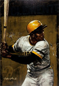 Baseball Collectibles:Others, 2005 Roberto Clemente Limited Edition Giclee by Stephen Holland....