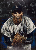 Baseball Collectibles:Others, 2007 Sandy Koufax Signed Giclee by Stephen Holland....