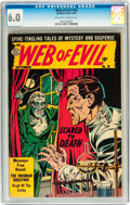 Golden Age (1938-1955):Horror, Web of Evil #18 (Quality, 1954) CGC FN 6.0 Off-white to whitepages....