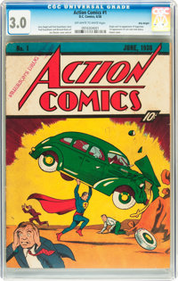 Action Comics #1 Billy Wright pedigree (DC, 1938) CGC GD/VG 3.0 Off-white to white pages