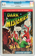 Golden Age (1938-1955):Horror, Dark Mysteries #21 (Master Publications, 1954) CGC VF+ 8.5Off-white to white pages....