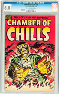 Golden Age (1938-1955):Horror, Chamber of Chills #25 (Harvey, 1954) CGC VF 8.0 Off-white to whitepages....