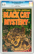 Golden Age (1938-1955):Horror, Black Cat Mystery #39 (Harvey, 1952) CGC VF 8.0 Cream to off-whitepages....