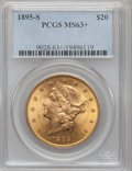 Liberty Double Eagles, 1895-S $20 MS63+ PCGS....