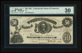 Confederate Notes:1861 Issues, T8 $50 1861.. ...