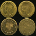 Chile, Chile: Republic gold 50 Pesos Quartet,... (Total: 4 coins)