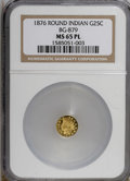 California Fractional Gold, 1876 25C BG-879 Prooflike MS65 NGC. NGC Census: (3/0). (#710740)...