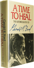 Books:Signed Editions, Gerald R. Ford: Signed First Edition of His Autobiography A Timeto Heal. (New York: Harper & Row, Publishers and The Re...(Total: 1 Item)