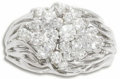 Estate Jewelry:Rings, Diamond, White Gold Ring. The ring, of bombe form, featuresfull-cut diamonds weighing a total of approximately 1.50 carat...