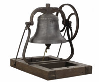 An American Bronze Bell  G.L. Hanks Company, Cincinnati, Ohio, USA 1882 Cast Bronze The bell marked wi