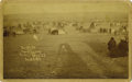 Photography:Cabinet Photos, CABINET OF TWO STRIKES' AND CROW DOG'S PINE RIDGE ENCAMPMENT. DatedDecember 18, 1890, this image was captured just three da... (Total:1 Item)