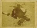 "Photography:Official Photos, HAUNTING IMAGE OF CHIEF BIG FOOT IN DEATH. Large cabinet image (7½""x 5½"") of Chief Big Foot in death, as he fell during the... (Total:1 Item)"