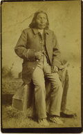 Photography:Cabinet Photos, LARGE CABINET OF WHITE BUFFALO. Handsome sepia-toned, full-lengthimage of Chief White Buffalo of the Comanche tribe. Measur...(Total: 1 Item)